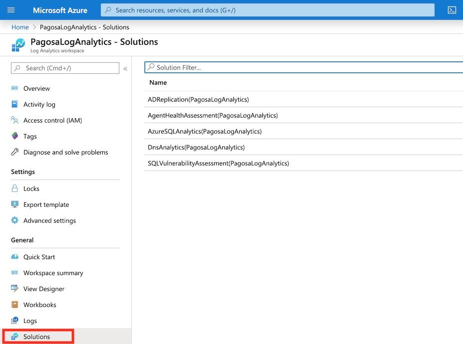 Log Analytics Solutions